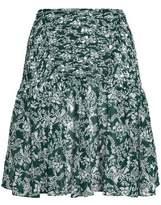 Maje Shirred Floral-Print Chiffon Mini Skirt