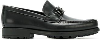 Salvatore Ferragamo double Gancio horsebit loafers