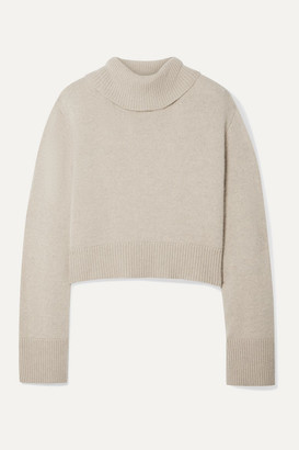 Co Cropped Cashmere Turtleneck Sweater - Sand