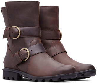 Sorel Phoenix Moto Cozy Leather Bootie