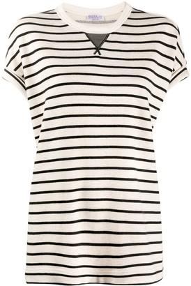 Brunello Cucinelli striped loose-fit T-shirt