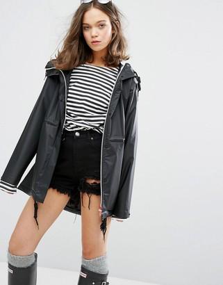 Hunter womens original raincoat in black