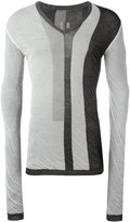 Rick Owens striped jumper - men - Cotton - S