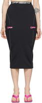 Off-White Off White Black and Pink Off Active Pencil Skirt