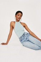 Thumbnail for your product : Nasty Gal Womens High Neck Halter Backless Bodysuit - Green - 4