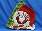 Martha Stewart Christmas Collection Santa Cookie Plate Free Shipping