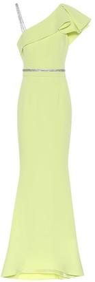 Safiyaa Mercedes crApe gown