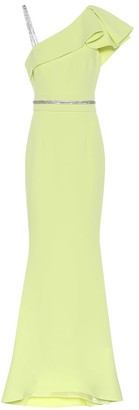 Safiyaa Mercedes crepe gown