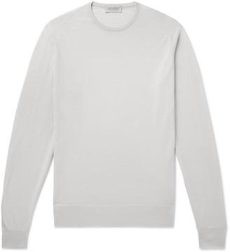 John Smedley Slim-Fit Merino Wool Sweater - Men - Gray