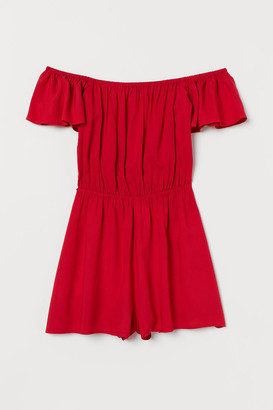 H&M Off-the-shoulder playsuit