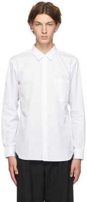 Comme des Garçons Homme Deux White Cotton Broad Stripe Shirt