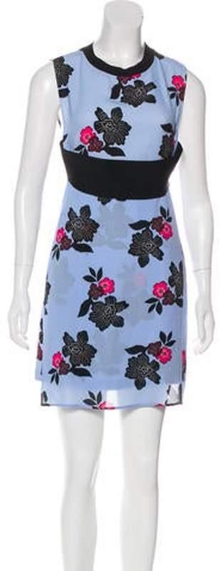 A.L.C. Floral Mini Dress blue Floral Mini Dress