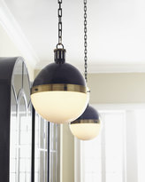 Horchow Visual Comfort Hicks 2-Light Extra-Large Bronze with Antiqued Brass Pendant