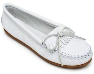 Minnetonka Deerskin Kilty Moccasins Women's Shoes