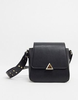 Truffle Collection Faux Leather stud strap cross body