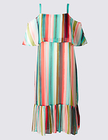 M&S Collection PLUS Striped Flared Maxi Dress