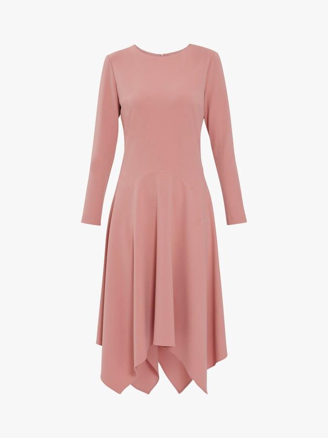 Thumbnail for your product : Gina Bacconi Lulana Soft Crepe Hanky Hem Dress