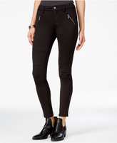 Tinseltown Juniors' Black Wash Skinny Moto Jeans