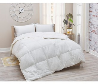 Amberly Bedding European White Goose Down Comforter - All Season Weight - Full/Queen