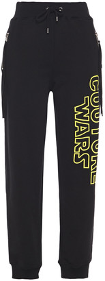 Moschino Printed French Cotton-terry Track Pants