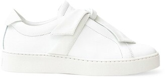 Alexandre Birman Clarita Bow Leather Sneakers