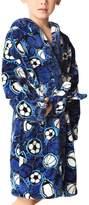 Mesinsefra Children Robe Flannel Bathrobe Kids Sleepwear XS