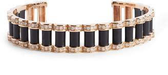 L'atelier Nawbar Rose Gold and Onyx Amulets of Light Bangle