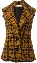 Marni three-dimensional checked sleeveless jacket