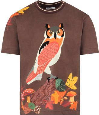 Dolce & Gabbana Brown T-shirt For Boy With Owl