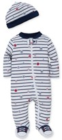 Little Me 2-Pc. Sports Star Hat & Footed Coverall Set, Baby Boys
