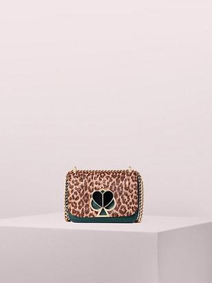Kate Spade Nicola Metallic Leopard Twistlock Small Convertible Chain Shoulder Bag