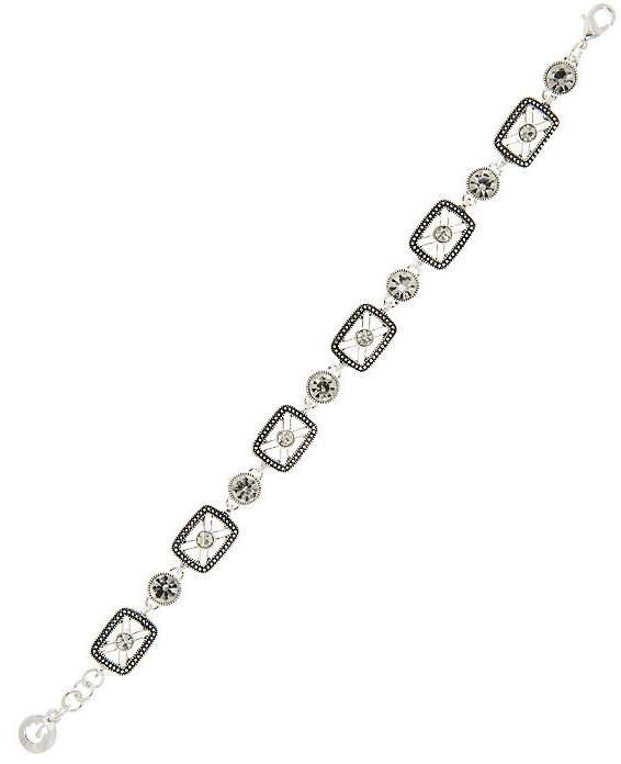 Gloria Vanderbilt Silver Tone Brass Link Bracelet