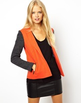 Asos Jacket with Knitted Contrast Sleeve - Multi