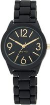 Nine West Black silicone black dial gold watch