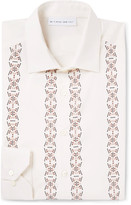 Etro - Slim-fit Embellished Cotton And Silk-blend Shirt