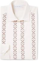 Etro - Slim-fit Embellished Cotton And Silk-blend Shirt