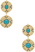House Of Harlow x REVOLVE Dorelia Double Coin Earring in Metallic Gold.