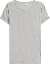Vince Cotton T-Shirt with Cuffed Sleeves