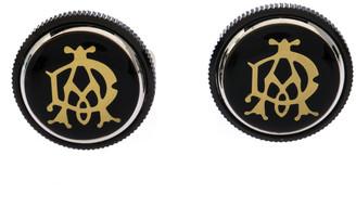 Dunhill Gear Logo Black Resin Stainless Steel Cufflinks