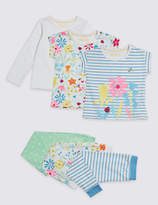 Marks and Spencer 3 Pack Pyjamas with Stretch (1-7 Years)