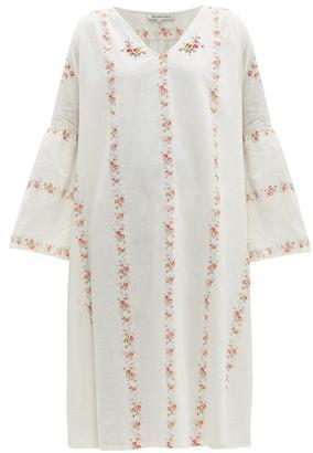 D'Ascoli Suffolk Floral-print Cotton Midi Dress - Womens - Pink