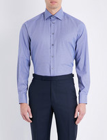 Eton Houndstooth-print contemporary-fit cotton shirt