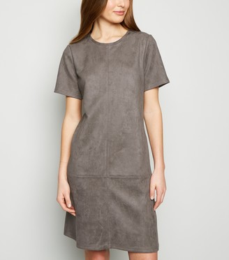 New Look Tall Suedette Tunic Dress