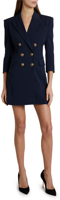 Balmain 3/4-Sleeve Blazer Dress