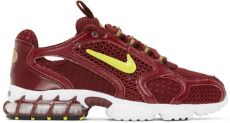 Nike Burgundy Air Zoom Spiridon Cage 2 Sneakers