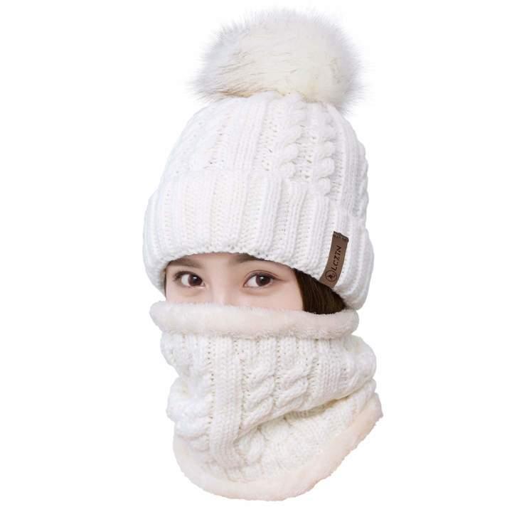 05f902d3e Baby Hats & Caps 2PCS Parent-child Hat Mother Baby Warm Knit Hat Fur ...
