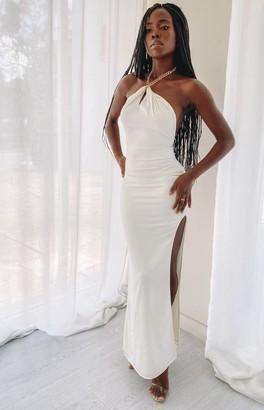 The Edit Daenerys Maxi Formal Dress White