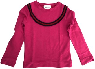 Gucci Pink Cotton Knitwear