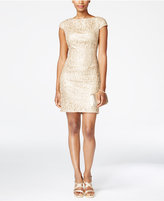 Adrianna Papell Petite Sequined Lace Sheath Dress