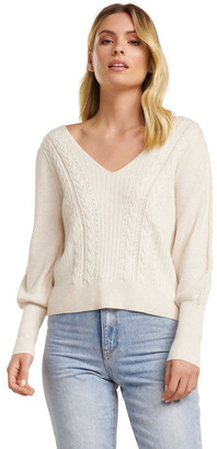 Forever New Arabella Cable Blouson Sleeve Jumper